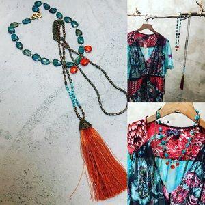 Lariat and Short necklace combination bundle